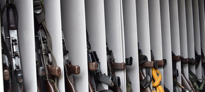 Armas entregadas por ex combatientes de las FARC-EP.