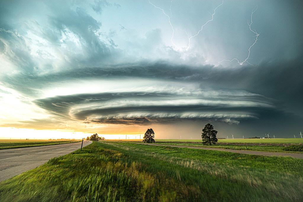 Nubes supercelulares sobre Burling en el estado de Colorado, en los Estados Unidos.