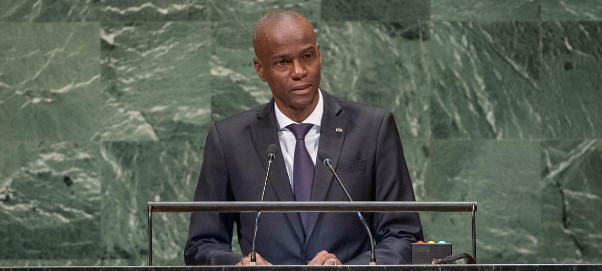 El presidente de Haití, Jovenel Moïse, se dirige a la Asamblea General. Foto de Archivo.