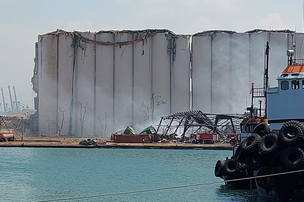 Silos destruidos en Beirut tras la explosión registrada el 4 de agosto de 2020.