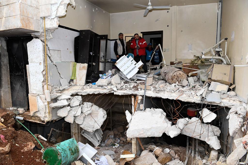 Un centro de salud destruido en la ciudad siria de Aleppo.