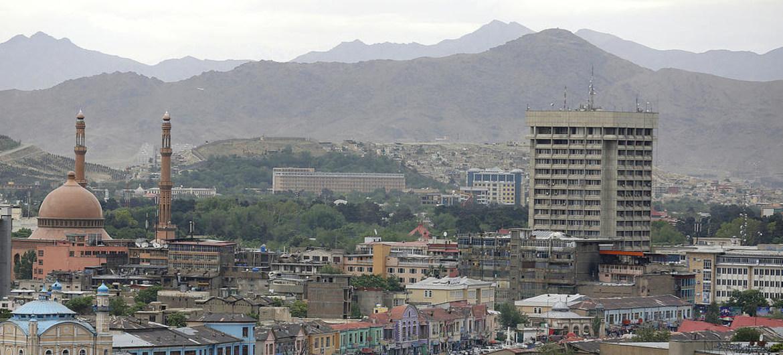 Vista panóramica de Kabul, la capital de Afganistán