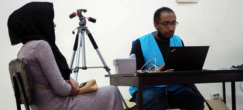 ACNUR y el gobierno de Etiopía registran a los refugiados eritreos en Addis Abeba.