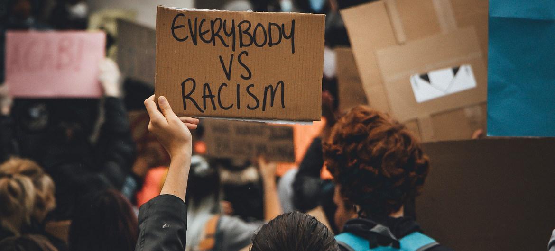 Manifestación en favor del movimiento Black Lives Matter(Las vidas negras importan) en el Reino Unido.
