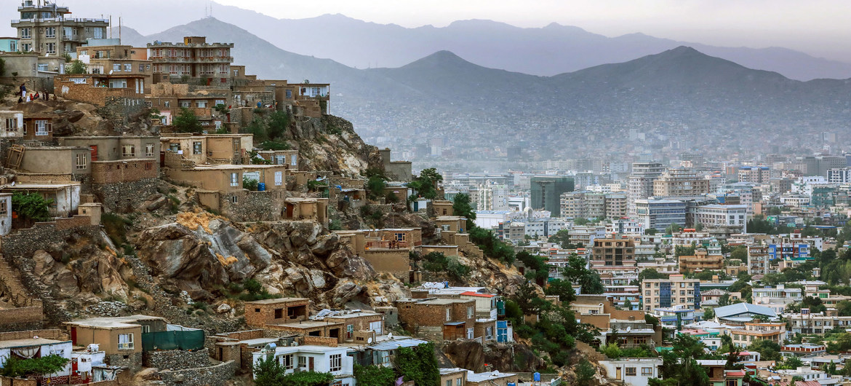 Vista panorámica de la ciudad de Kabul. la capital de Afganistán, en Junio del 2020.