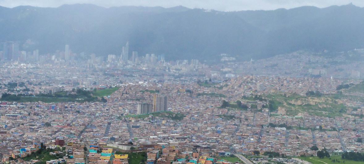 Vista panorámica de Bogotá, capital de Colombia.