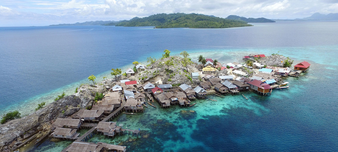 Reserva de Una-Una en el archipiélago indonesio Togian,