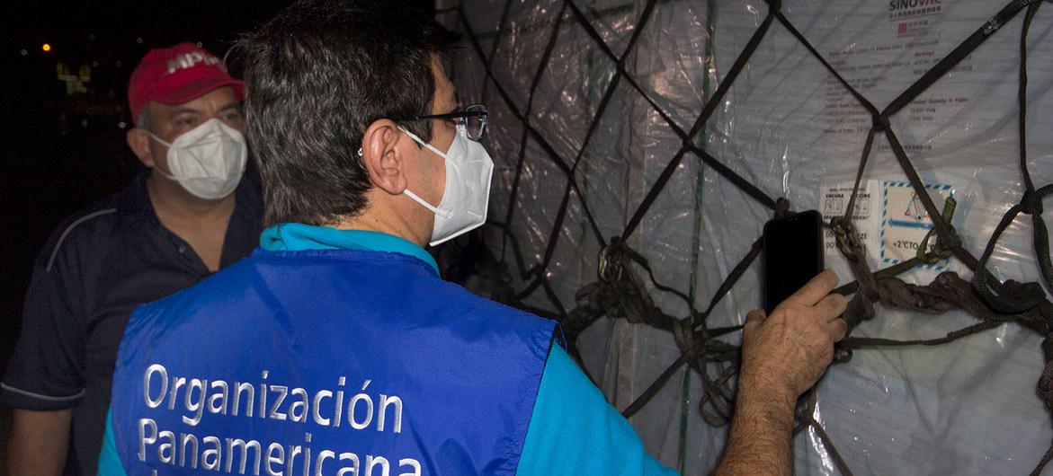 Entrega de vacunas COVID-19 a través del Mecanismo COVAX en Venezuela.