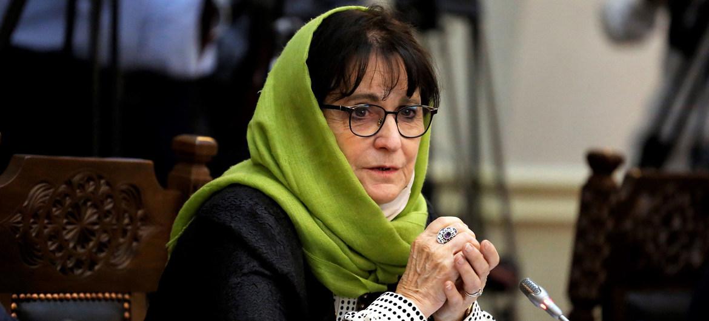 Deborah Lyons, representante especial de la ONU para Afgnistán, en el Consejo de Seguridad.