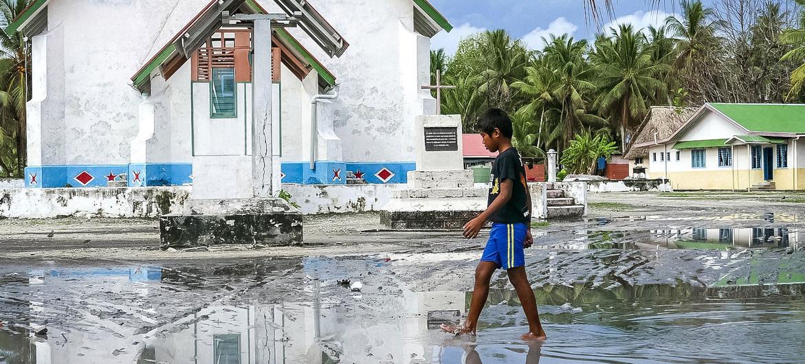 El archipiélago de Tuvalu, en el Pacífico Sur, es altamente vulnerable a la subida del nivel del mar provocada por el cambio climático.