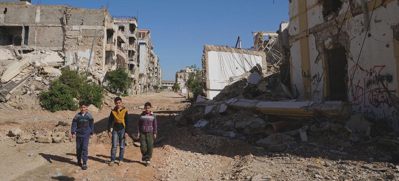 La parte vieja de Bengasi está destruida tras años de conflicto.